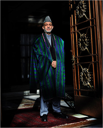 Portrait of Afghanistan President Hamid Karzai, Lynsey Addario/VII Network, for The New York Times