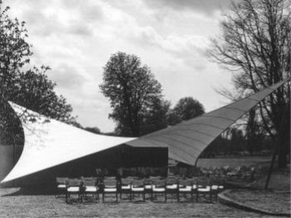 Four-Point Tent as a Music Pavilion of the Bundesgartenschau, Kassel, Germany 1955